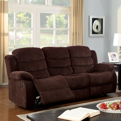 Fergstein Reclining Sofa Upholstery: Brown