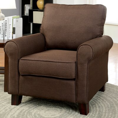 Attron Modern Arm Chair Upholstery: Brown