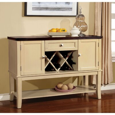Carolina Dining Buffet Finish: Cream White / Cherry