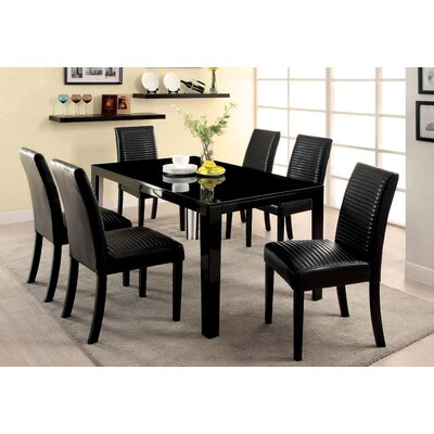 Peterson 7 Piece Dining Set Finish Black