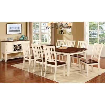 Carolina Dining Table Finish: Cream White / Cherry