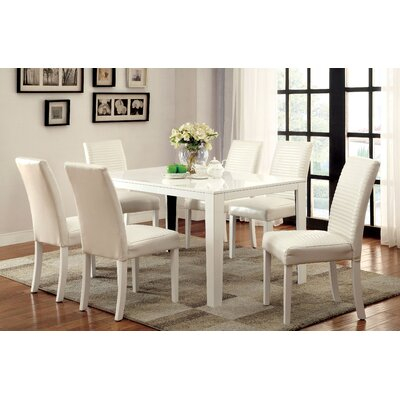 Peterson 7 Piece Dining Set Finish White