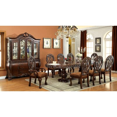 Dolores 9 Piece Dining Set Finish Cherry