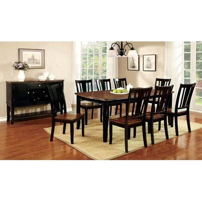 Carolina 9 Piece Dining Set Finish Black Cherry