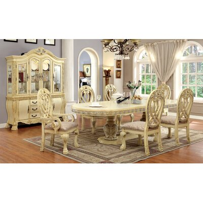 Dolores 7 Piece Dining Set Finish White