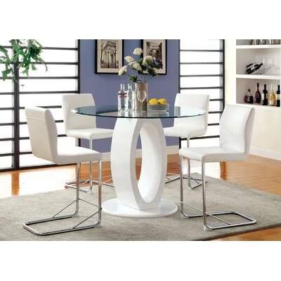 Benedict 5 Piece Dining Set Upholstery White