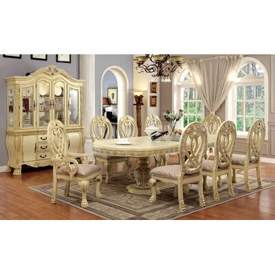 Dolores 9 Piece Dining Set Finish White