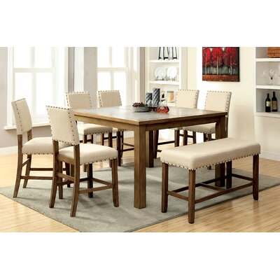 Casiodoro 8 Piece Counter Height Pub Dining Set