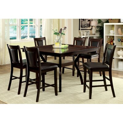 Bari 7 Piece Counter Height Pub Dining Set