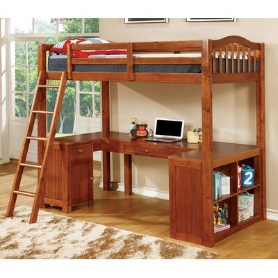 Colony Twin Loft Bed Color: Oak
