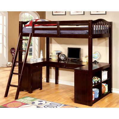Colony Twin Loft Bed Color: Espresso