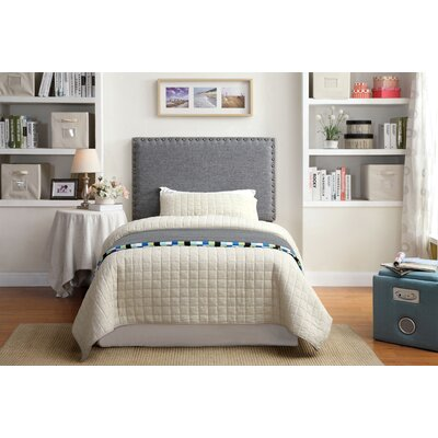 Rosinski Upholstered Panel Headboard Upholstery: Gray, Size: Twin