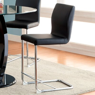 Benedict 24.25 Bar Stool Upholstery: Black