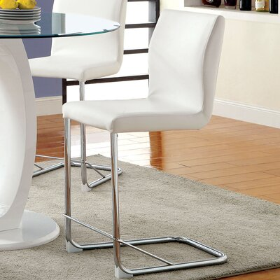 Benedict 24.25 Bar Stool Color: White