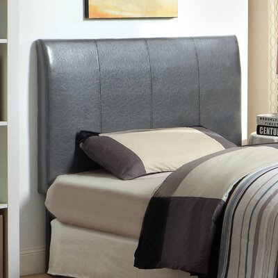 Kinnelon Upholstered Panel Headboard Size: Twin, Upholstery: Grey