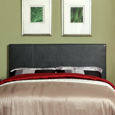 Temara Upholstered Panel Headboard Size: Full / Queen, Upholstery: Grey