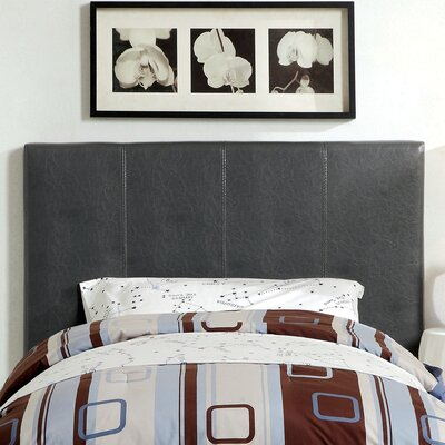 Temara Upholstered Panel Headboard Size: Twin, Upholstery: Grey