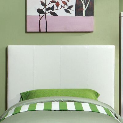 Temara Upholstered Panel Headboard Size: Twin, Upholstery: White