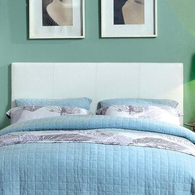Temara Upholstered Panel Headboard Size: Full / Queen, Upholstery: White