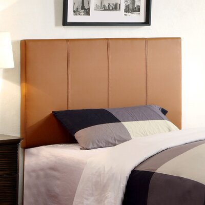 Temara Upholstered Panel Headboard Size: Twin, Upholstery: Clay