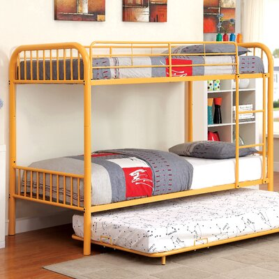 Sonya Twin Bunk Bed Color: Orange