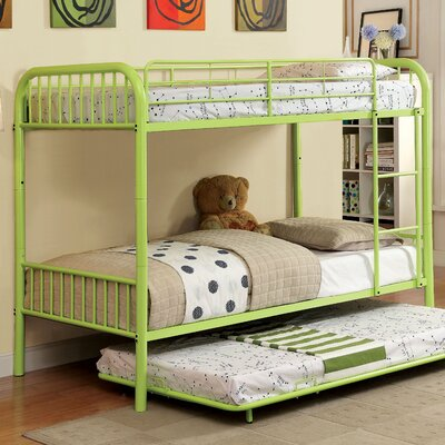 Sonya Twin over Twin Bunk Bed Color: Green