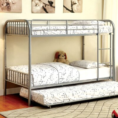 Sonya Twin over Twin Bunk Bed Color: Silver