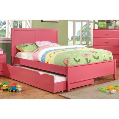 Spectrum Platform Bed Size: Full, Color: Raspberry Pink