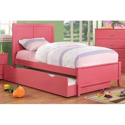 Spectrum Platform Bed Size: Twin, Color: Raspberry Pink