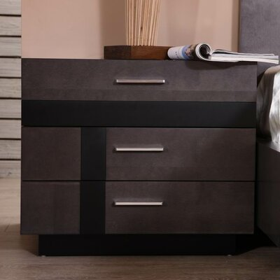 Tucana 3 Drawer Nightstand (Set of 2)