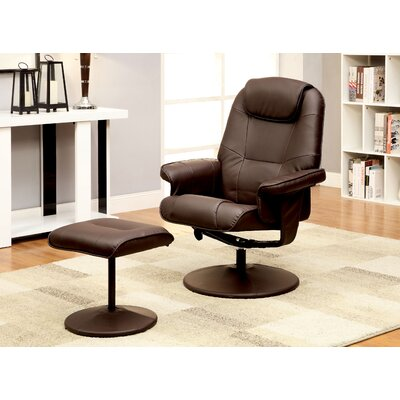 Klaus Lounge Chair and Ottoman Color: Brown