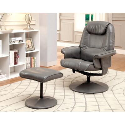 Klaus Lounge Chair and Ottoman Color: Gray