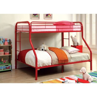 Prism Twin over Full Bunk Bed Color: Red