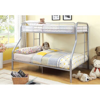 Prism Twin over Full Bunk Bed Color: Silver