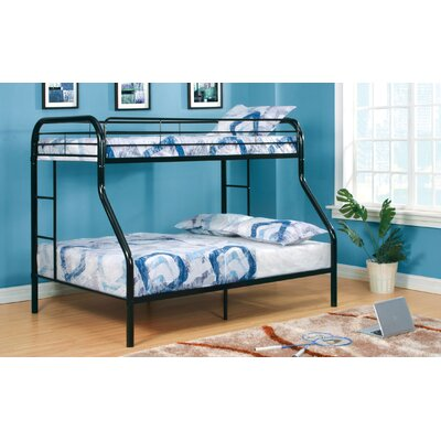Prism Twin over Full Bunk Bed Color: Black / White