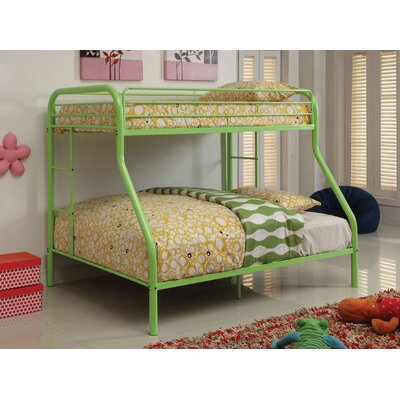 Prism Twin over Full Bunk Bed Color: Green