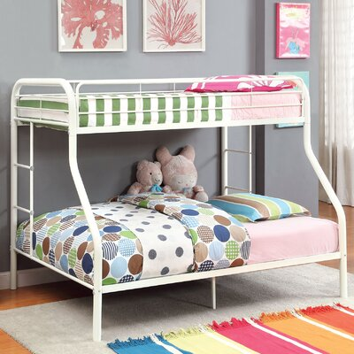 Prism Twin over Full Bunk Bed Color: White