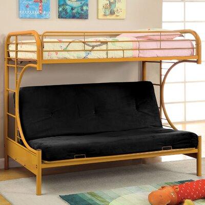 Prism Twin Futon Bunk Bed Color: Orange