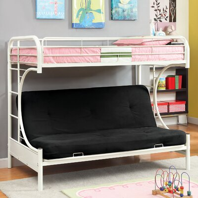 Prism Twin Futon Bunk Bed Color: White