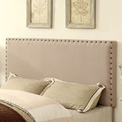 Marina Upholstered Panel Headboard Size: Twin, Upholstery: Ivory