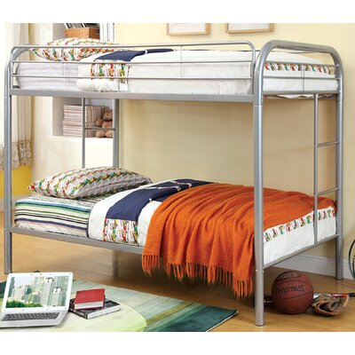 Prism Twin Bunk Bed Color: Silver