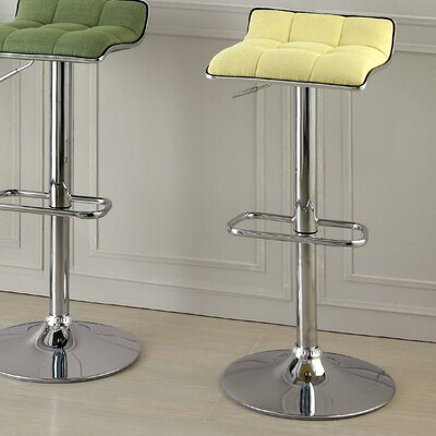 Churchill Adjustable Height Swivel Bar Stool Upholstery: Yellow