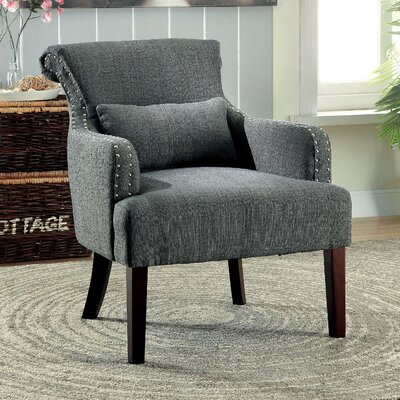Marlow Wing back Chair Color: Gray