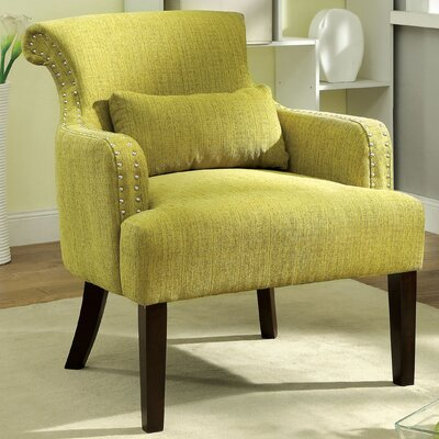 Marlow Wing back Chair Color: Green