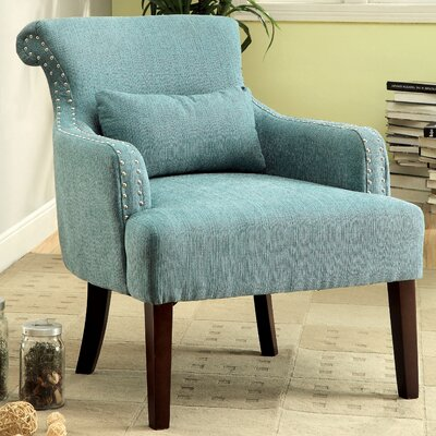 Marlow Wing back Chair Color: Blue