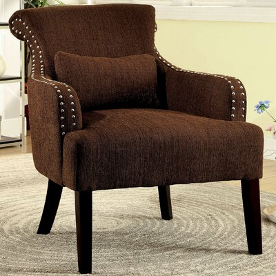 Marlow Wing back Chair Color: Brown