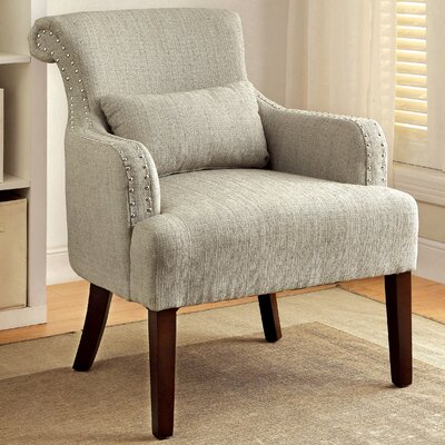 Marlow Wing back Chair Color: Beige