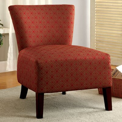 Menara Slipper Chair Color: Red