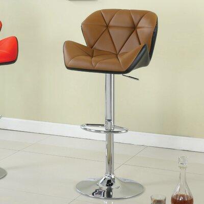 Adjustable Height Swivel Bar Stool Upholstery: Camel