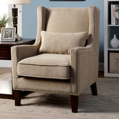 Marlow Wingback Arm Chair Color: Ivory